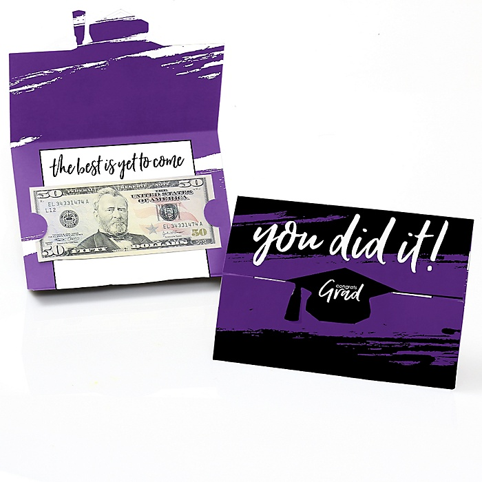 Purple Grad - Best is Yet to Come - Graduation Money Holders - 8 ct.