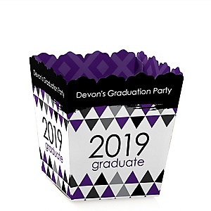 Purple Grad - Best is Yet to Come - Party Mini Favor Boxes - Personalized 2019 Graduation Treat Candy Boxes - Set of 12