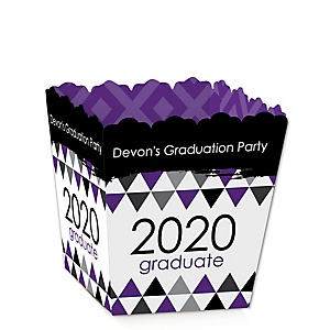 Purple Grad - Best is Yet to Come - Party Mini Favor Boxes - Personalized 2020 Graduation Treat Candy Boxes - Set of 12