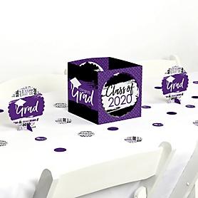 Purple Grad - Best is Yet to Come - 2020 Graduation Party Centerpiece & Table Decoration Kit