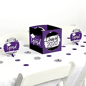Purple Grad - Best is Yet to Come - 2020 Graduation Party Centerpiece & Table Decoration Kit