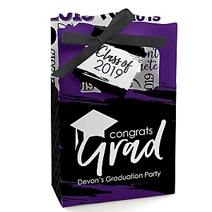 Purple Grad - Best is Yet to Come - Personalized 2019 Graduation Favor Boxes - Set of 12