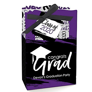 Purple Grad - Best is Yet to Come - Personalized 2020 Graduation Favor Boxes - Set of 12