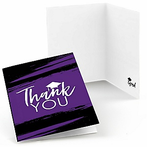 Purple Grad - Best is Yet to Come - Graduation Party Thank You Cards - 8 ct