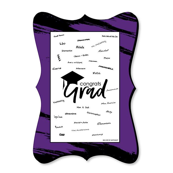 Purple Grad - Best is Yet to Come - Unique Alternative Guest Book - Graduation Party Signature Mat