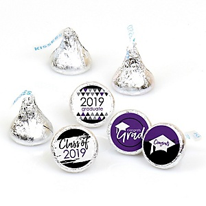Purple Grad - Best is Yet to Come - Round Candy Labels 2019 Graduation Party Favors - Fits Hershey's Kisses 108 ct