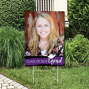 Purple Grad - Best is Yet to Come - Photo Yard Sign - Purple 2019 Graduation Party Decorations