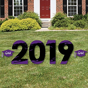 Purple Grad - Best is Yet to Come - 2019 Yard Sign Outdoor Lawn Decorations - Purple Graduation Party Yard Signs - 2019