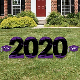 Purple Grad - Best is Yet to Come - 2020 Yard Sign Outdoor Lawn Decorations - Purple Graduation Party Yard Signs - 2020