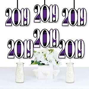 Purple Grad - Best is Yet to Come - 2019 Decorations DIY Purple Graduation Party Essentials - Set of 20