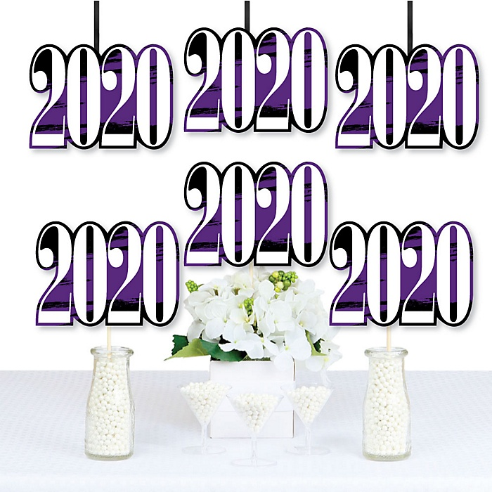 Purple Grad - Best is Yet to Come - 2020 Decorations DIY Purple Graduation Party Essentials - Set of 20
