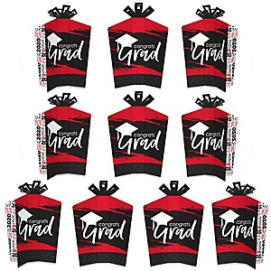 Red Grad - Best is Yet to Come - Table Decorations - 2020 Red Graduation Party Fold and Flare Centerpieces - 10 Count