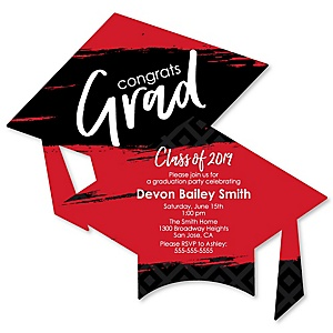 Red Grad - Best is Yet to Come - Personalized 2019 Graduation Invitations - Set of 12