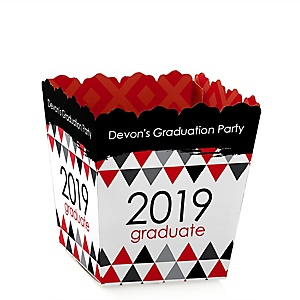 Red Grad - Best is Yet to Come - Party Mini Favor Boxes - Personalized 2019 Graduation Treat Candy Boxes - Set of 12