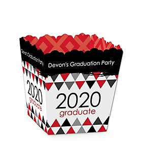 Red Grad - Best is Yet to Come - Party Mini Favor Boxes - Personalized 2020 Graduation Treat Candy Boxes - Set of 12