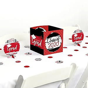 Red Grad - Best is Yet to Come - 2020 Graduation Party Centerpiece & Table Decoration Kit