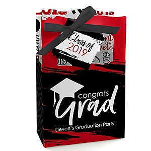 Red Grad - Best is Yet to Come - Personalized 2019 Graduation Favor Boxes - Set of 12