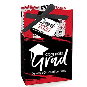 Red Grad - Best is Yet to Come - Personalized 2020 Graduation Favor Boxes - Set of 12