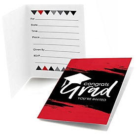 Red Grad - Best is Yet to Come - Graduation Party Fill In Invitations - 8 ct