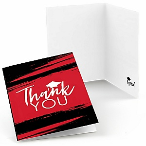 Red Grad - Best is Yet to Come - Graduation Party Thank You Cards - 8 ct