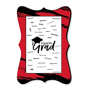 Red Grad - Best is Yet to Come - Unique Alternative Guest Book - Graduation Party Signature Mat
