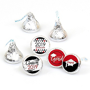 Red Grad - Best is Yet to Come - Round Candy Labels 2019 Graduation Party Favors - Fits Hershey's Kisses 108 ct