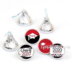 Red Grad - Best is Yet to Come - Round Candy Labels 2020 Graduation Party Favors - Fits Hershey's Kisses 108 ct