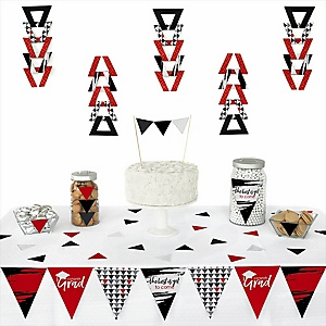 Red Grad - Best is Yet to Come -  Triangle Graduation Party Decoration Kit - 72 Piece