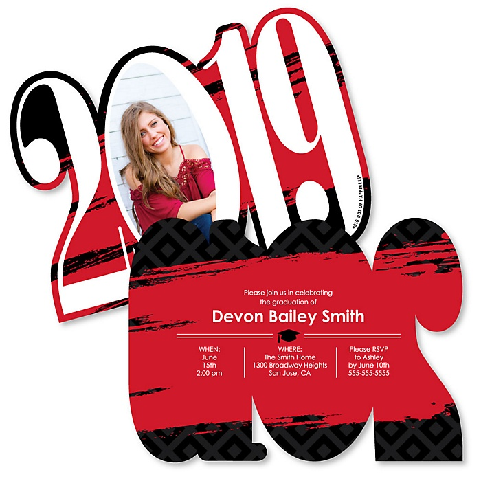 Red Grad - Best is Yet to Come - Personalized 2019 Photo Graduation Announcement - Set of 12