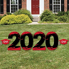 Red Grad - Best is Yet to Come - 2020 Yard Sign Outdoor Lawn Decorations - Red Graduation Party Yard Signs - 2020