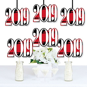 Red Grad - Best is Yet to Come - 2019 Decorations DIY Red Graduation Party Essentials - Set of 20