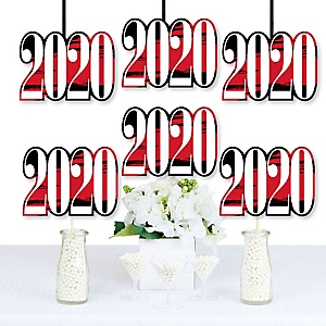 Red Grad - Best is Yet to Come - 2020 Decorations DIY Red Graduation Party Essentials - Set of 20