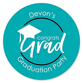 Teal Grad - Best is Yet to Come - Personalized Graduation Sticker Labels - 24 ct