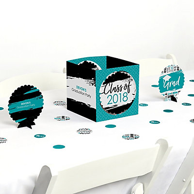 Teal Grad   Best Is Yet To Come   Graduation Party Table Decorating Kit |  BigDotOfHappiness.com
