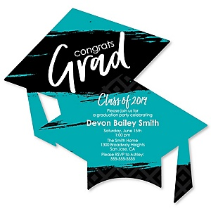 Teal Grad - Best is Yet to Come - Personalized 2019 Graduation Invitations - Set of 12