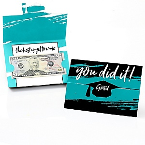 Teal Grad - Best is Yet to Come - Graduation Money Holders - 8 ct.