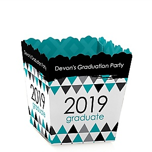 Teal Grad - Best is Yet to Come - Party Mini Favor Boxes - Personalized 2019 Graduation Treat Candy Boxes - Set of 12
