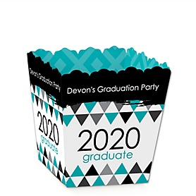 Teal Grad - Best is Yet to Come - Party Mini Favor Boxes - Personalized 2020 Graduation Treat Candy Boxes - Set of 12
