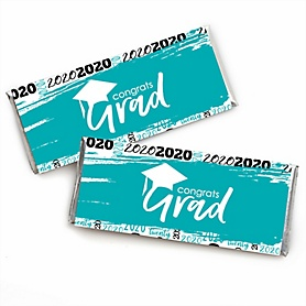Teal Grad - Best is Yet to Come -  2020 Candy Bar Wrappers Graduation Party Favors - Set of 24