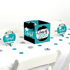 Teal Grad - Best is Yet to Come - 2020 Turquoise Graduation Party Centerpiece & Table Decoration Kit