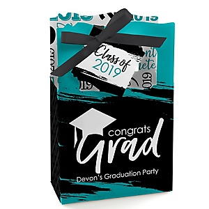 Teal Grad - Best is Yet to Come - Personalized 2019 Graduation Favor Boxes - Set of 12