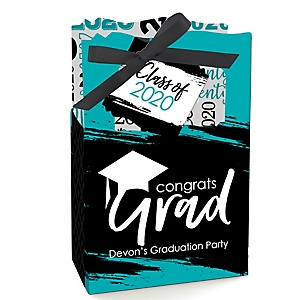 Teal Grad - Best is Yet to Come - Personalized 2020 Graduation Favor Boxes - Set of 12