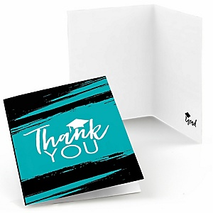 Teal Grad - Best is Yet to Come - Graduation Party Thank You Cards - 8 ct