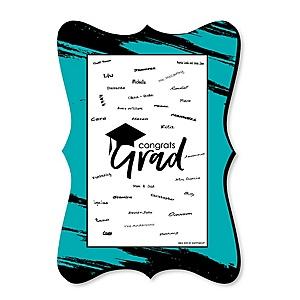Teal Grad - Best is Yet to Come - Unique Alternative Guest Book - Graduation Party Signature Mat
