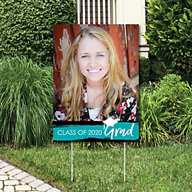 Teal Grad - Best is Yet to Come - Photo Yard Sign - 2020 Turquoise Graduation Party Decorations