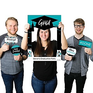 Teal Grad - Best is Yet to Come - Personalized Graduation Party Selfie Photo Booth Picture Frame & Props - Printed on Sturdy Material