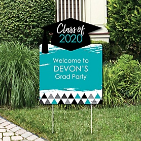 Teal Grad - Best is Yet to Come - Party Decorations - 2020 Turquoise Graduation Party Personalized Welcome Yard Sign