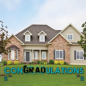 conGRADulations - Teal Grad - Best is Yet to Come - Yard Sign Outdoor Lawn Decorations - 2020 Turquoise Graduation Party Yard Signs
