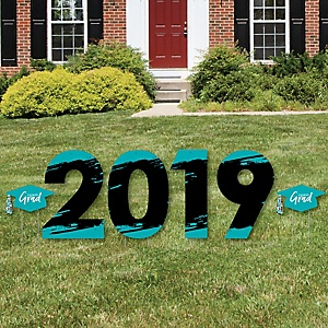 Teal Grad - Best is Yet to Come - 2019 Yard Sign Outdoor Lawn Decorations - Teal Graduation Party Yard Signs - 2019