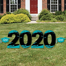 Teal Grad - Best is Yet to Come - 2020 Yard Sign Outdoor Lawn Decorations - Teal Graduation Party Yard Signs - 2020